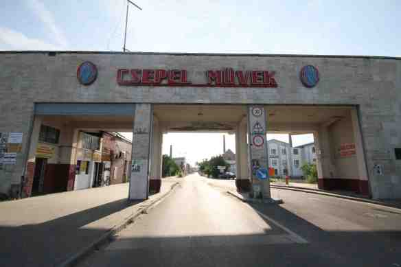 Csepel Müvek main entrance